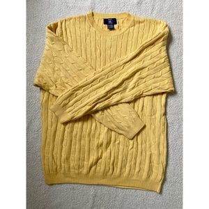 Men's Hunt Club Yellow Knitted Crewneck Sweater XL